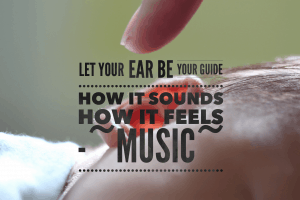 The sound is in the ears